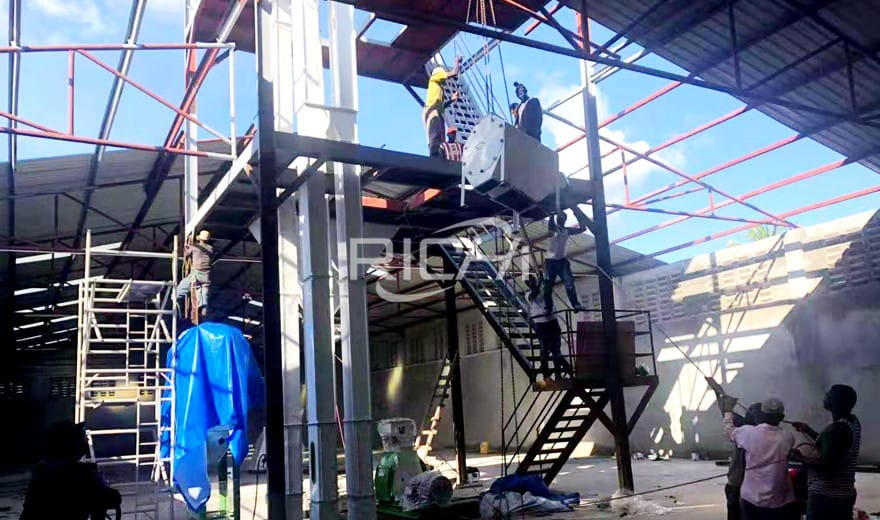 400-500KG/H Animal Feed Pellet Production Line in Trinidad and Tobago