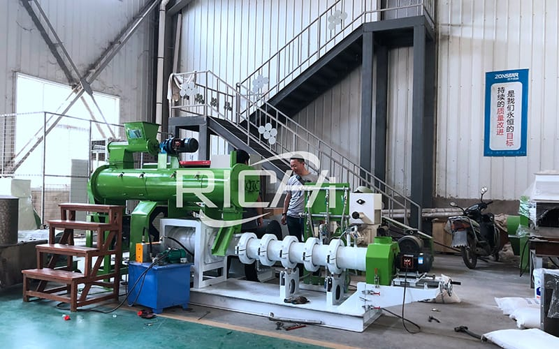 cost for catfish feed extruder plant