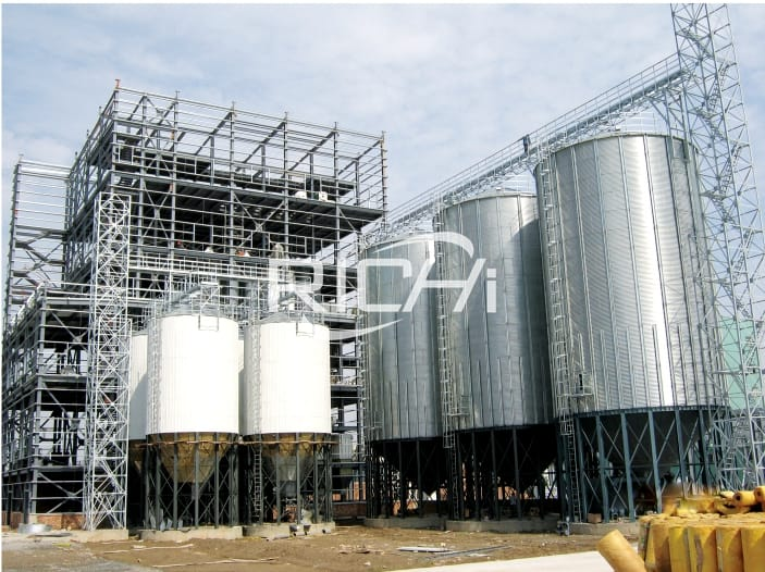 30t/h automatic chicken animal feed pellet making plant for sale