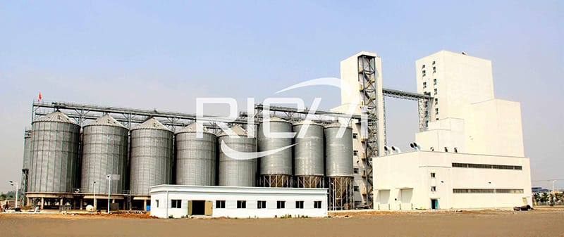 30t/h animal feed manufacturing process machine of poultry feed plant