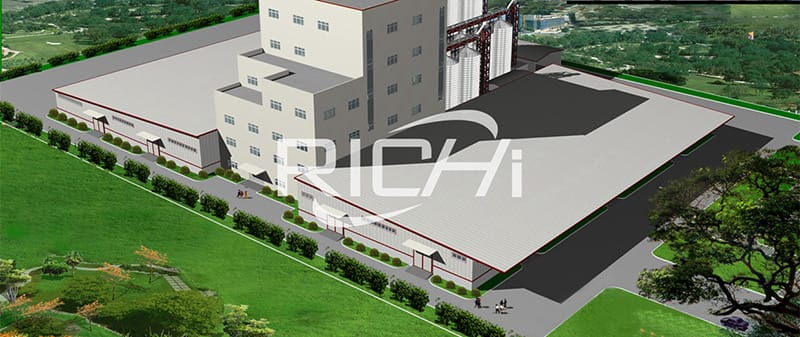 China supplier animal poulry feed production line