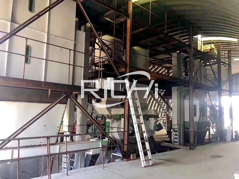 easy to handle 1-20 TPH stable performance biomass wood pellet production line