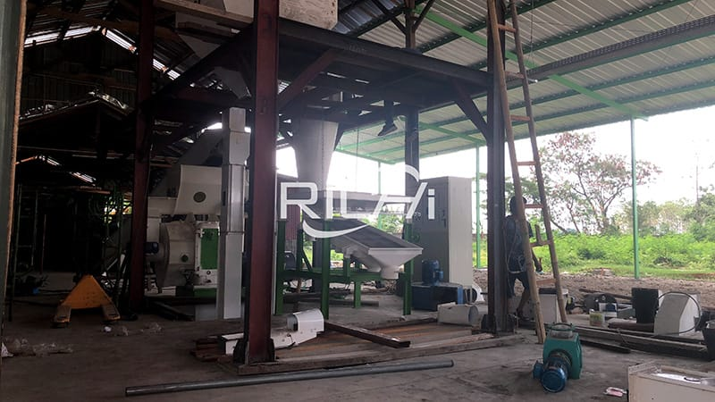 easy to handle 1-20 TPH stable performance biomass coffee husk wood pellet production line