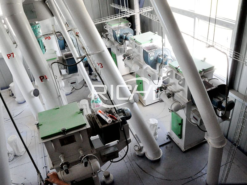 types of low cost animal pig feed production line machines