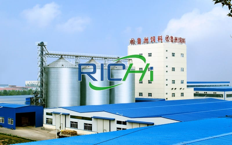 Large turnkey poultry pig fish feed processing plant project with an annual output of 200,000 tons in China